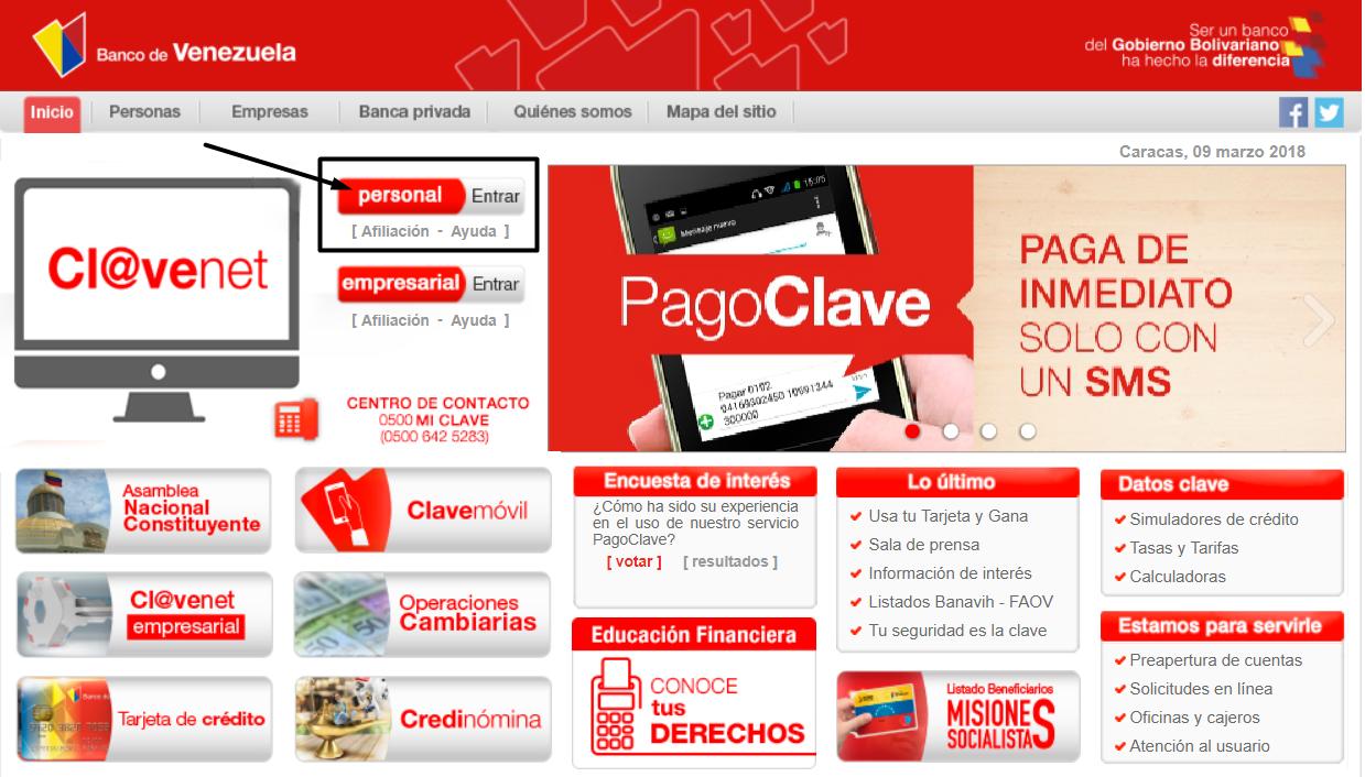 Banco de Venezuela consulta de saldo
